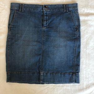Gap Jeans Faded Denim Skirt 12